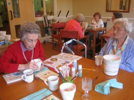 Glendale Residents Painting Pottery